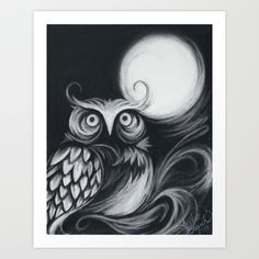 Night Owl Art Print by Andrea Brand - $15.00