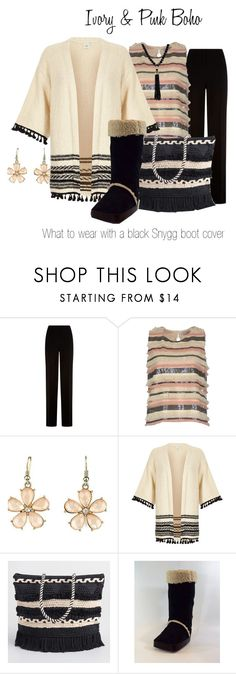 """Ivory & Pink Boho"" by flauntboots ❤ liked on Polyvore featuring Diane Von Furstenberg, Twenty Easy By Kaos, Emi Jewellery, River Island, 14th & Union, bohochic, bootcover, aircast and anklesurgery"