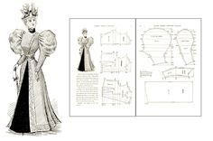 80 Victorian Period Costume Patterns Cutting Dress Making Guide on CD | eBay