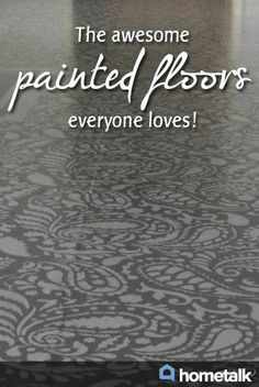 The awesome painted floors everyone loves!