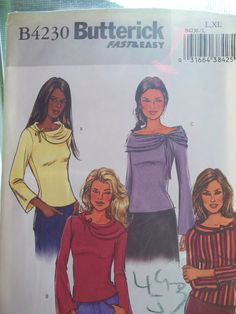 Easy Butterick B4230 Sewing Pattern Plus Size by WitsEndDesign