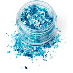 In Your Dreams Blue Frosted Fairy Cosmetic Glitter (89 EGP) ❤ liked on Polyvore featuring beauty products and makeup