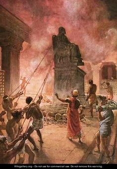 King Josiah cleansing the land of idols - William Brassey Hole