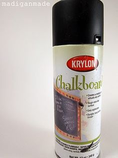 How to use chalkboard paint on glass with peeling and chipping.