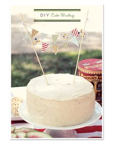 Cake bunting-DIY
