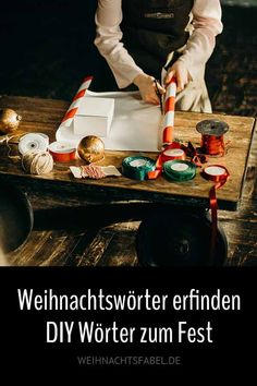 Zu Weihnachten wird etwas selbst gemacht. Das kennen wir alle, ob man es mag oder nicht. Aber wer Strohsterne flicht, Plätzchen backt oder Geschenke bastelt, der kann das auch mit Wörtern tun. Einfach sich selbst ein paar neue erschaffen, die es so vorher noch nicht gegeben hat. #weihnachten #wörter #DIY #erfinden