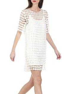 0634068b279a Robe en crochet motif fleurs Blanc by SEE U SOON Motif Fleurs