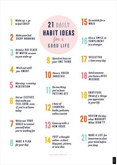 51 positive and healthy habits for a better and more amazing life. You are what you repeatedly do, so start today by implementing one or more of the habits on the list. Good Habits, Healthy Habits, Healthy Tips, Vie Motivation, Health Motivation, Morning Motivation, School Motivation, Study Motivation, Healthy Lifestyle Motivation