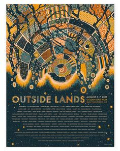 Outside Lands Festival Poster by James Eads