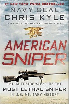 This has got to be one of the best books I have ever read. This book tells the story of Chris Kyle and his journey through the military. Once I started reading this book, I couldn't stop. I have read the book once, but I have seen the movie multiple times. It always gives me chills. I think its because of me wanting to go into the military and that I respect every man and woman that puts their life on the line to protect my freedom.