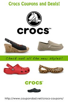 Crocs coupons, free shipping and deals!   http://www.coupondad.net/crocs-coupons/