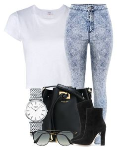 """""""Sem título #2145"""" by isabellacarolina161 ❤ liked on Polyvore featuring RE/DONE, Michael Kors, Longines, Ray-Ban and Gianvito Rossi"""