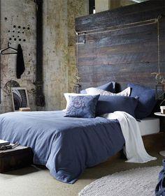 Masculine Bedroom Designs - Home Decoration Indigo Bedroom, Beautiful Bedrooms, Home Bedroom, Masculine Bedroom, Home Decor, Bedroom Inspirations, Blue Bedroom, Interior Design, Interior Design Bedroom