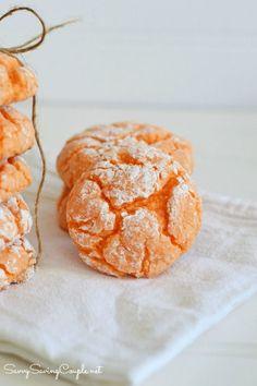Orange Burst Crinkle Cookies-Made with Cake Mix!