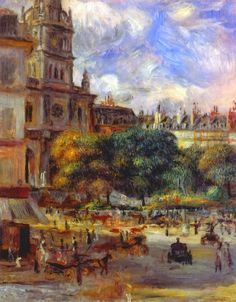 Pierre-Auguste Renoir (French [Impressionism] Church of the Holy Trinity in Paris, Art Gallery, Art Painting, Renoir Paintings, Paris Painting, French Art, Painting, Beautiful Paintings, Renoir Art, Art