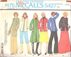 McCalls 5427 1970s Misses  Ethnic Folk JACKET Pattern by mbchills