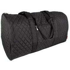 24 95 21 Black Quilted Duffle Bag