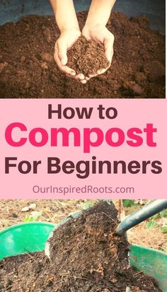 Want to start composting? This post will tell you how to compost for beginners. Find out how to start DIY composting now and build a great pile for your garden. How To Start Composting, Composting Methods, How To Make Compost, Composting At Home, Making Compost, Worm Composting, Organic Compost, Organic Gardening, Organic Fertilizer