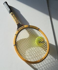 Tennis Racquet Superwinner Bamboo Wood Vintage Tennis by wperry42, $29.00