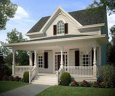 Plan Attractive Cozy Cottage really cute small cottage house Cottage Style House Plans, Cottage Style Homes, Cottage Design, Small House Plans, Farm House, Cottage Plan, Small Cottage Homes, Cottage Floor Plans, Small Farmhouse Plans