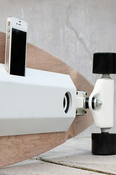 """Cruise, charge and chill, with some music to play. Such istheconcept ofChargeboard, byBjorn van den Hout, a fellow classmate of mine.This longboard is a self-regenerating docking station on wheels, combining those functionalities with a fine dose of style. Bjorn: """"The further you seem to be away from a socket, the sooner batteries run out! It's like they think it's funny, but it isn't. That's why I came up with Chargeboard. A longboard that generates its own electricity through two ..."""