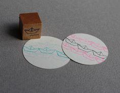 Weiteres - Stempel Papierschiffchen - ein Designerstück von perlenfischer bei DaWanda