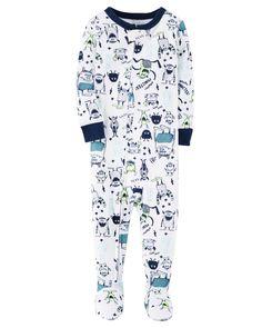 35f6fe40ea7d 1-Piece Glow-In-The-Dark Snug Fit Cotton PJs