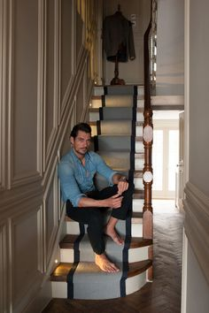 david gandy home stairs - Google Search