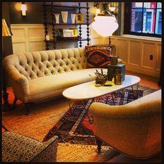 Rejuvenation Portland: Classical Revival living room display – so elegant