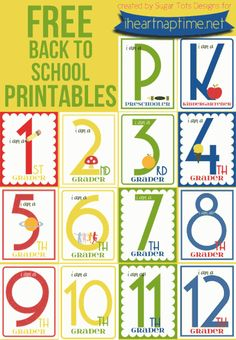 back to school printables @Jamielyn {iheartnaptime.net} #school