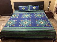 Handcrafted Rajasthani Print 100% Cotton Double Bed Sheet... http://www.amazon.in/dp/B01NCO5U3F/ref=cm_sw_r_pi_dp_x_lXLxyb0DJB4YV