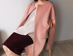 tea rose wool trench coat {5% cashmere}