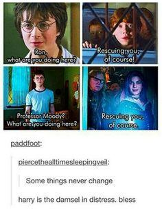 Harry, the damsel in distress