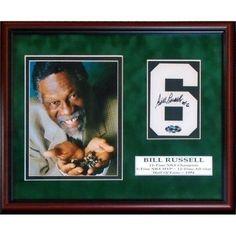 Bill Russell Signed Jersey 8 x 10 Custom Framed Boston Celtics COA Bill Russell, Thing 1, Nba Champions, Boston Celtics, Custom Framing, The Originals, Frame, Cards, Painting