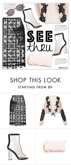 """It's All Clear Now"" by teoecar ❤ liked on Polyvore featuring Simone Rocha, clear and Seethru"