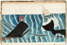 Whaling Journal with watercolors 1842-5 : Lot 169