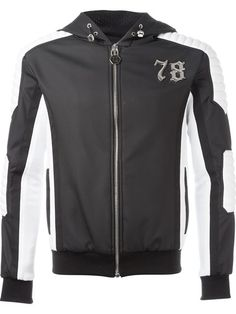 PHILIPP PLEIN 'Dive' Hooded Jacket. #philippplein #cloth #jacket