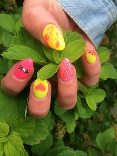 #sommar naglar#