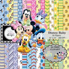 Disney Baby Digital Paper Pack  30 Papers  by DigitalStudioDesigns