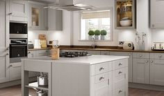 Wickes Milton Grey combines a natural woodgrain effect with a subtle grey colour to create a uniqely stylish kitchen where less is definitely more.
