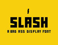 """Check out this @Behance project: """"Slash - a free display font"""" https://www.behance.net/gallery/22251109/Slash-a-free-display-font #free #font"""