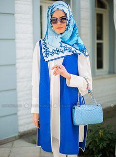 Canalisé Vest - Bleu - Mimya