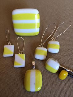 Handmade, fused glass jewelry and hair accessories by Miss Olivia's Line.  Additional items posted at https://www.facebook.com/MissOliviasLine