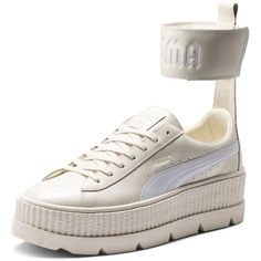 bc46fc52ca5c Fenty Puma x Rihanna Women s Leather Ankle Strap Platform Sneakers ( 205) ❤  liked on