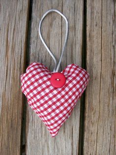 Red gingham heart from CraftedHome on Folksy