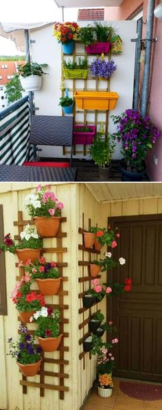 Awesome Ways to Display Your Planters on The Wall Verwandeln Sie ein Holzgitter in eine Halterung un