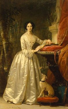 1849 Grand-Duchess Maria-Alexandrovna by Christina Robertson (Hermitage). Maria Alexandrovna was already established as Grand Duchess when Christina Robertson painted this portrait in 1849, having married in 1841.