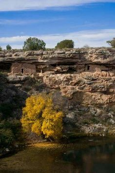 Indian ruins at Montezumas Well in Arizona