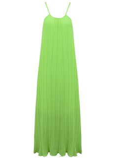 ACHICGIRL Lime Yellow Halter Neckline Maxi Dress One Size Lime *** Discover this special product, click the image : homecoming dresses