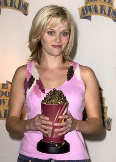Reese Witherspoon during 2002 MTV Movie Awards Press Room at The Shrine Auditorium in Los Angeles California United States (June 1, 2002)
